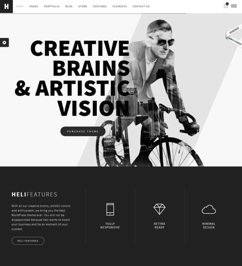 Heli – A Mighty Creative WordPress Theme 2016
