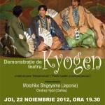 Demonstratie de teatru japonez Kyogen la Bucuresti