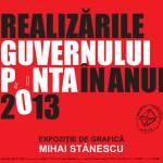 Realizările Guvernului Ponta în anul 2013
