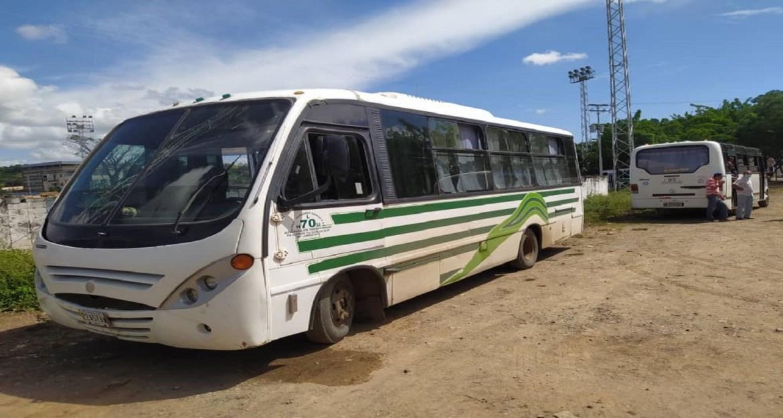 No habrá transporte colectivo fuera del municipio