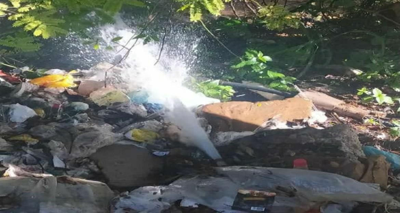 Reportan bote de agua potable