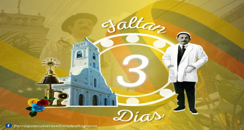 Reliquia del Beato llega en tres días a la parroquia Altagracia