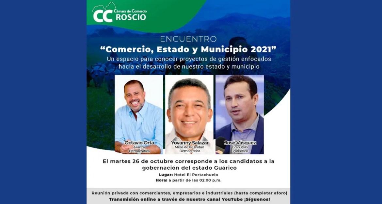 Cámara de Roscio: encuentro entre empresarios y candidatos políticos