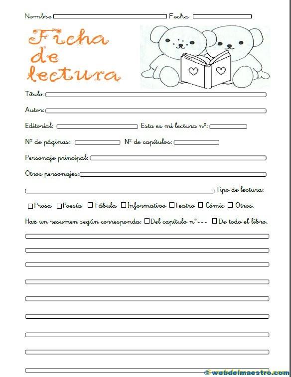 ficha lectura para alumnos segundo ciclo primaria