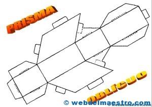 Figuras geométricas tridimensionales: prisma oblícuo