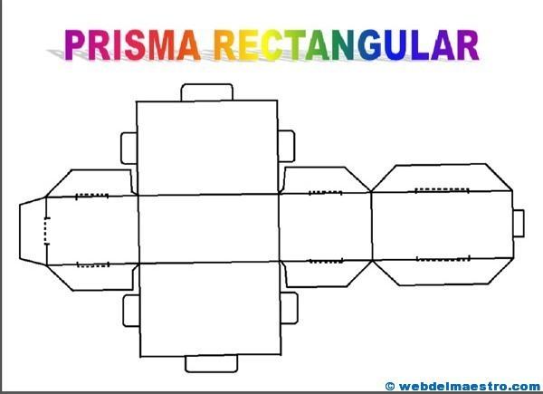 figuras geométricas tridimensionales prisma rectangular web del