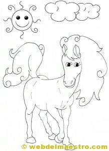 Caballos para colorear: yegua