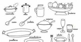Dibujos Para Colorear E Imprimir Utensilios De Cocina Archives Web
