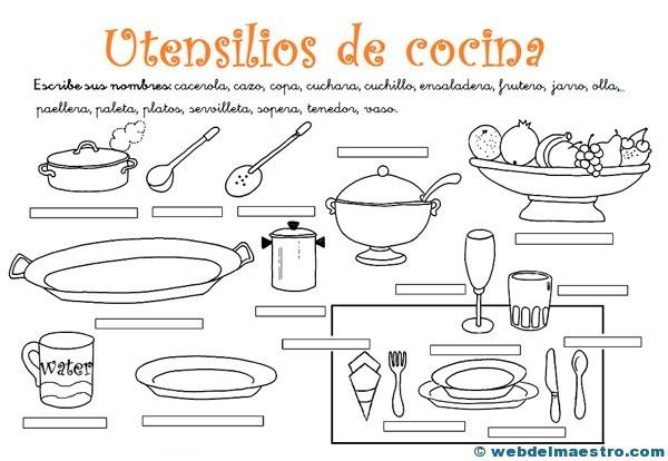 Utensilios De Cocina Actividades 2 Web Del Maestro