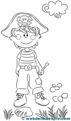 Dibujos para colorear de piratas-3