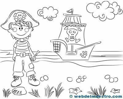 Dibujos-para-colorear-de-piratas-4 - Web del maestro