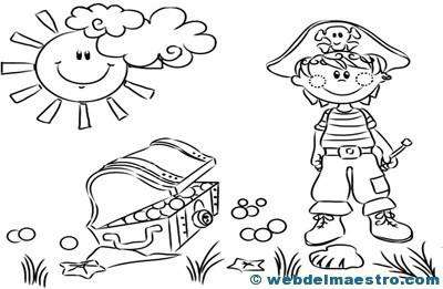 Dibujos para colorear de piratas-7