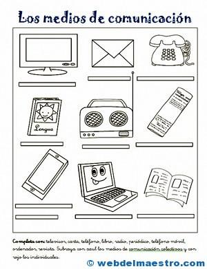Medios De Comunicación Para Niños Web Del Maestro