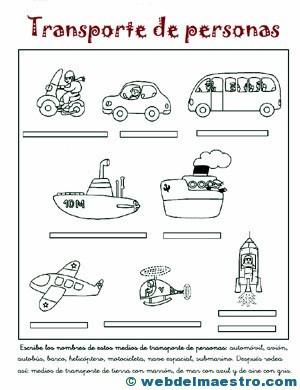 Medios de transporte para niños