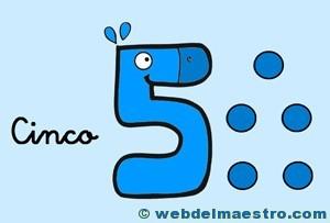 Fichas de números-El 5