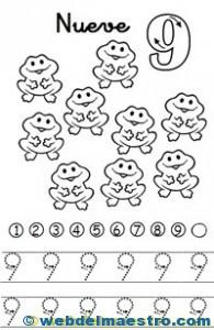 Fichas de números-9