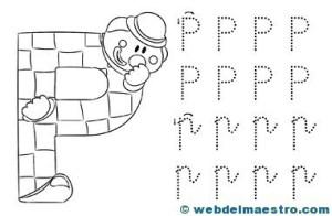Dibujos para colorear de letras-P
