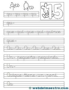 Ejercicios de caligrafía-q