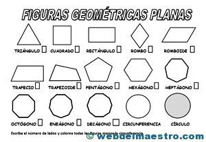 Figuras Geometricas Para Colorear Web Del Maestro