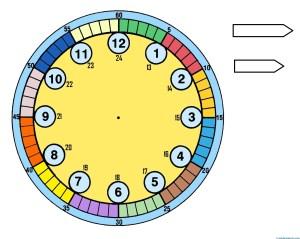 relojes para aprender la hora-4- color-