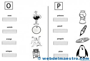 Letras O y P