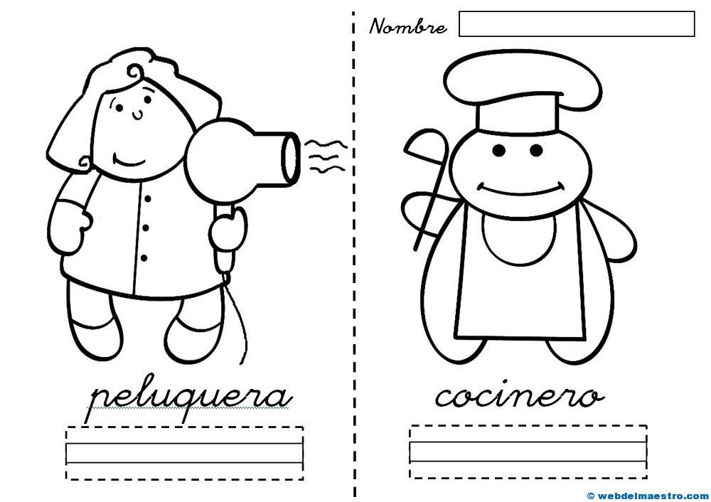 Dibujos de profesiones para colorear - Web del maestro
