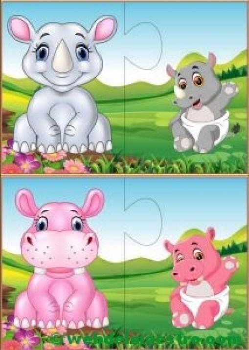 Puzzles infantiles para niños de 2 a 3 años-