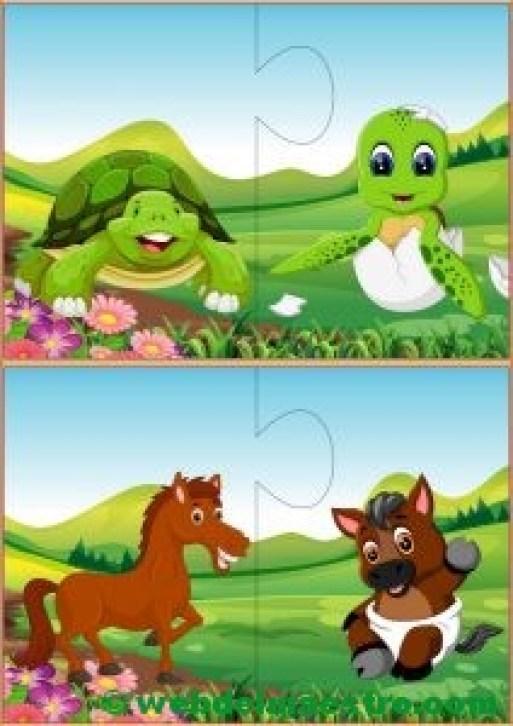 Puzzles infantiles para niños de 2 a 3 años-II
