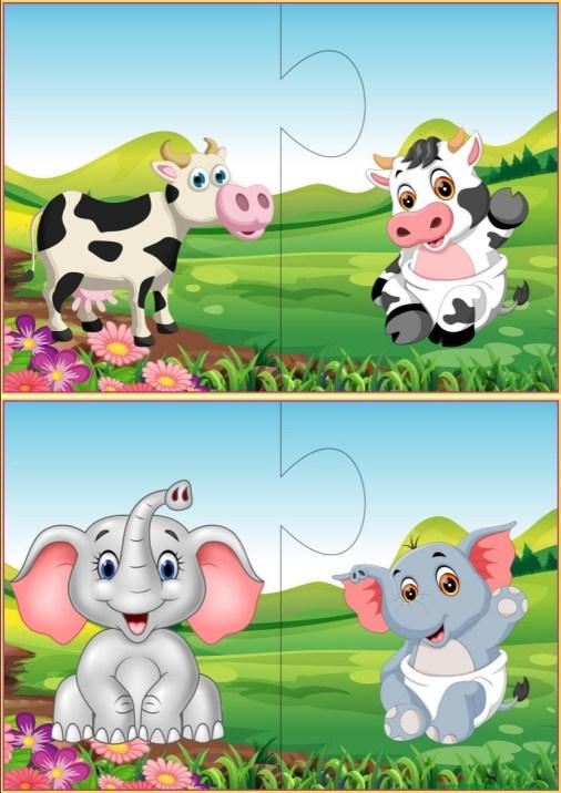 Puzzles infantiles para niños de 2 a 3 años-V