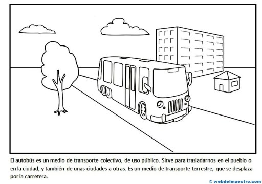 Transportes Por Tierra Para Colorear: Medios De Transporte (II)