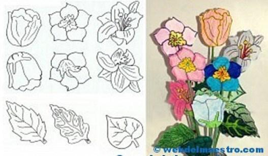 Manualidades - flores de papel