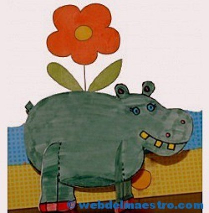 Manualidades -hipopótamo