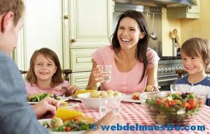 cenar en familia