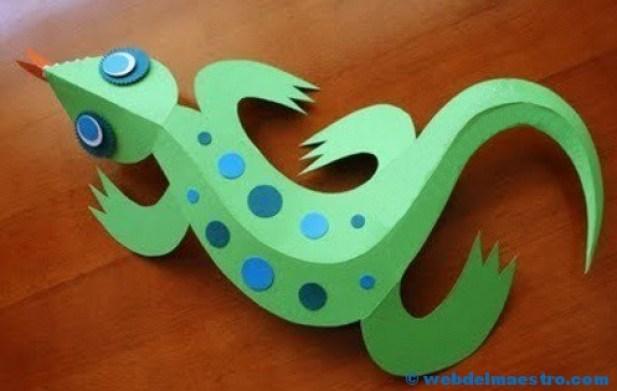 Manualidades para niños- lagarto terminado