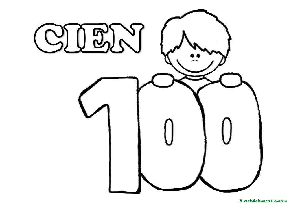 Numero 100 Para Colorear Web Del Maestro