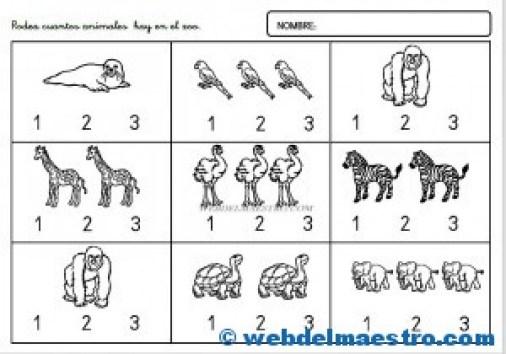 Actvidades-números del 1 al 3