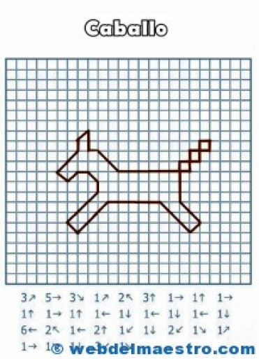 Dictados para desarrollar la lateralidad-caballo