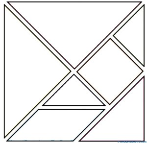Piezas tangram para colorear