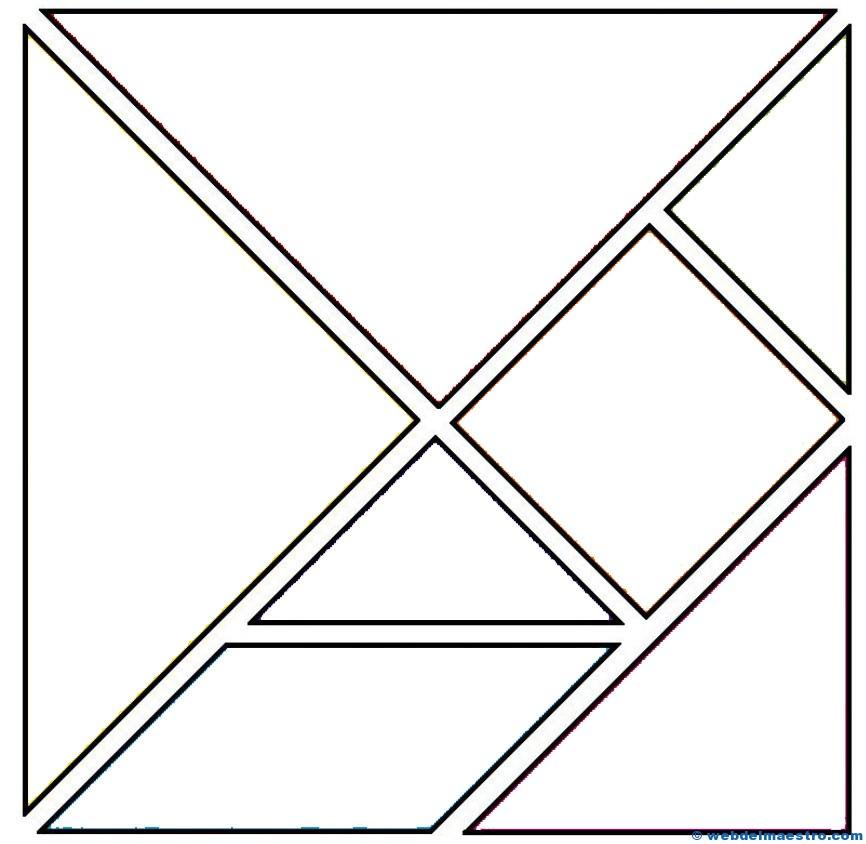 Piezas tangram para colorear - Web del maestro
