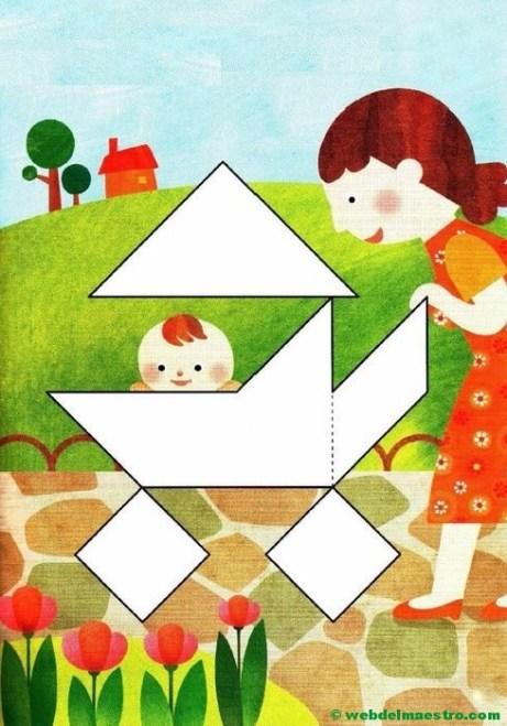 Figuras de tangram para completar-2