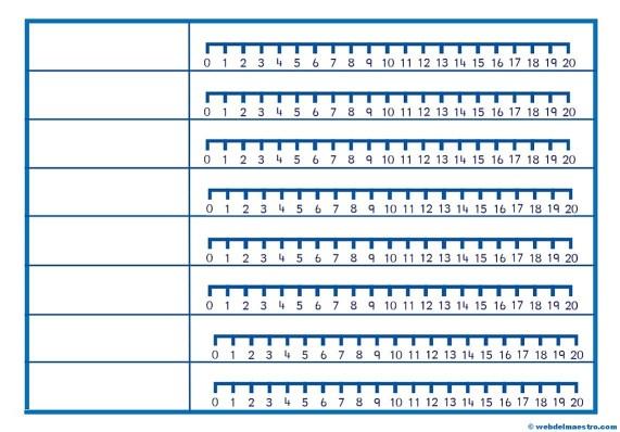 Recta numérica-generador de operaciones