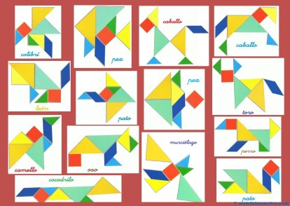 Tangram-Figuras para imprimir online