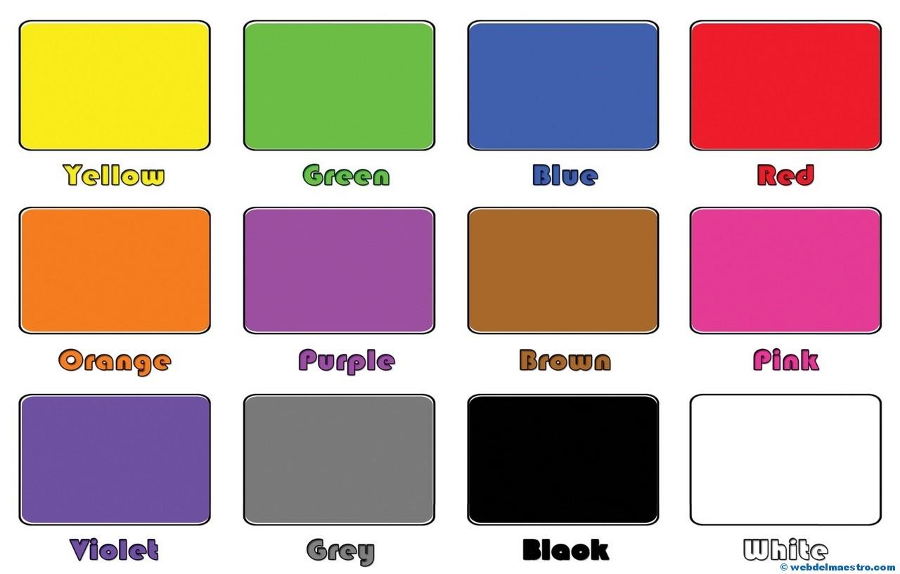 Pinturas De Colores En Ingles