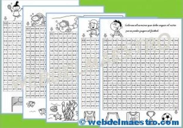 Juegos de Matemáticas-Sigue las sumas