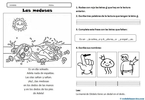 Lectura 4-La letra D-Actividades