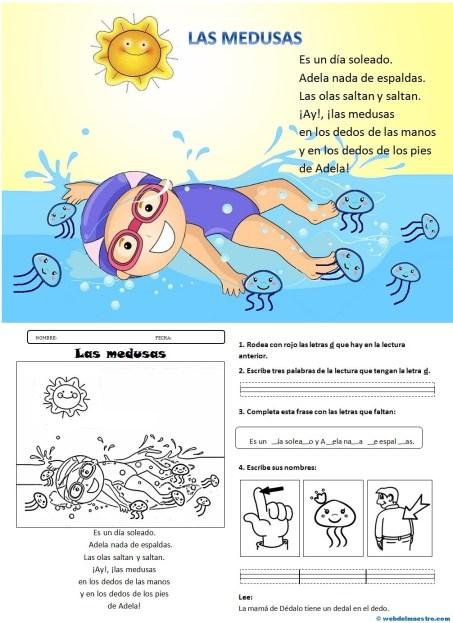 Lectura 4-La letra D Y actividades