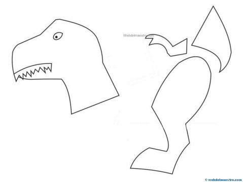 Manualidades faciles- Dinosaurio 3-