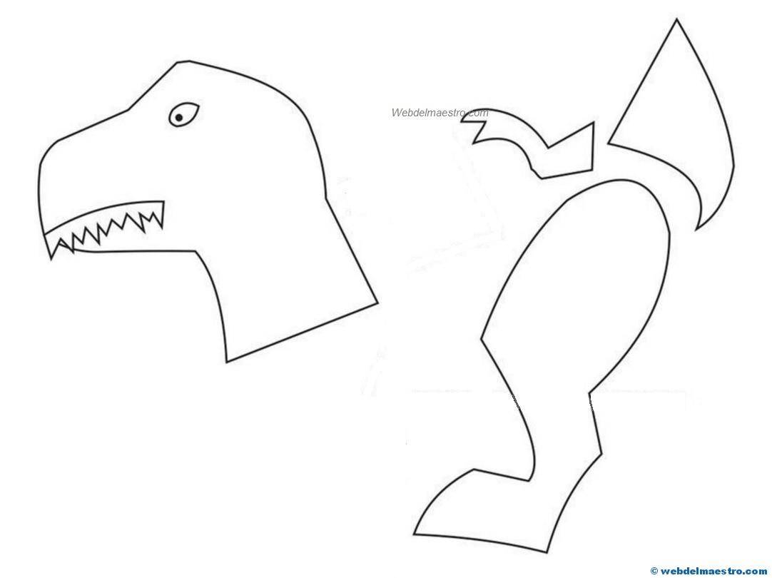 Manualidades Faciles Dinosaurio 3 Web Del Maestro Animales de la era jurásica para colorear. manualidades faciles dinosaurio 3 web