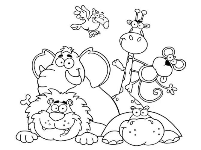 Dibujos De Animales Terrestres Para Colorear E Imprimir: Dibujos Para Colorear De Animales