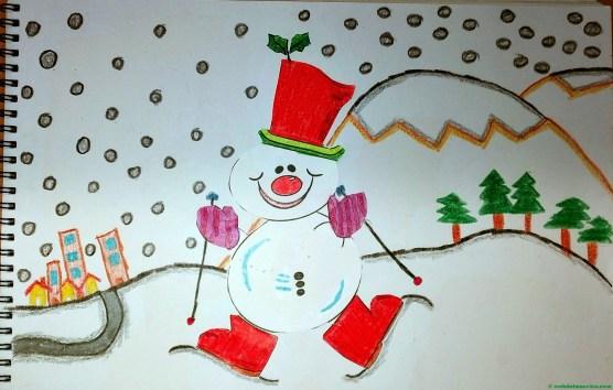Muñeco de nieve-Terminación